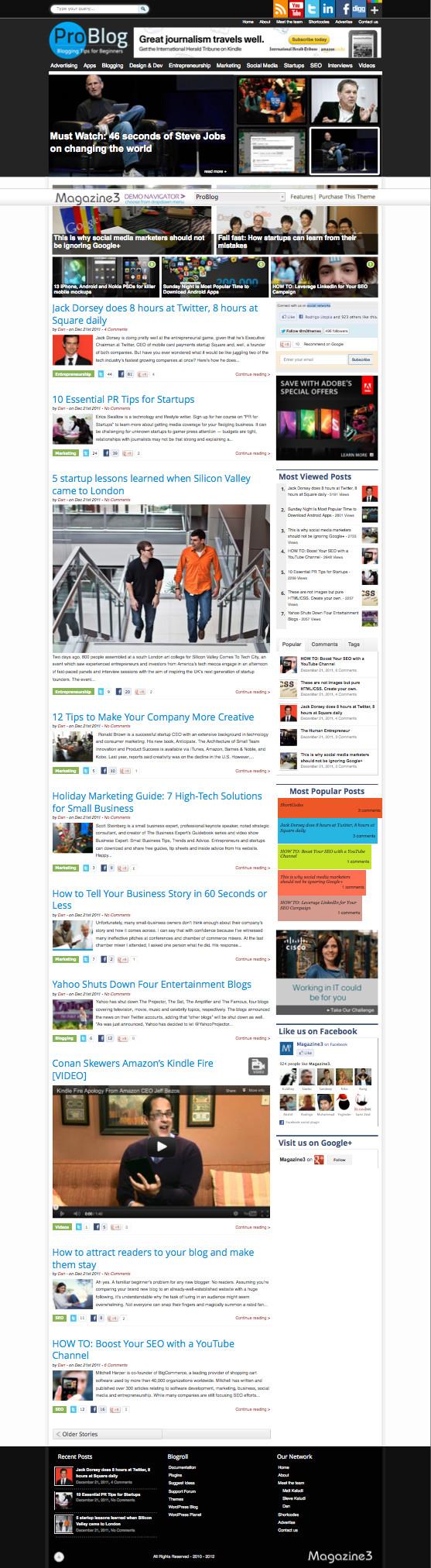 ProBlog WordPress Magazine Theme