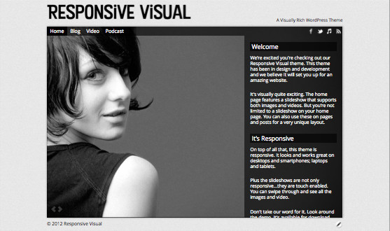 Responsive Visual WordPress Theme