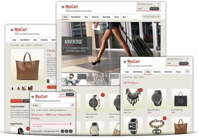 WooCart Responsive WordPress Theme