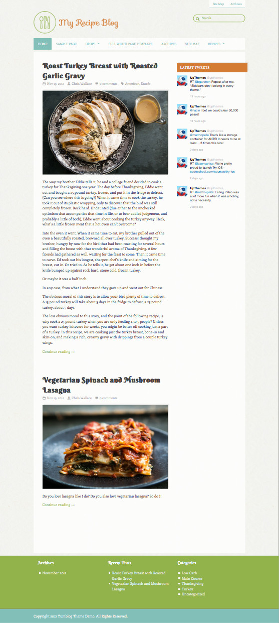 Yumblog WordPress Food Blog Theme