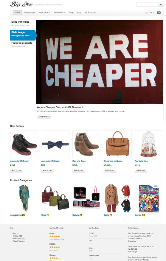 Bizz Store WordPress eCommerce Shop Theme