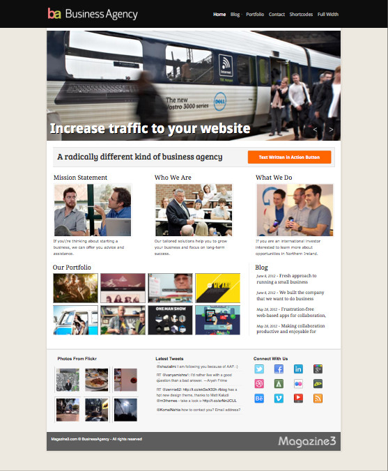 BusinessAgency WordPress Design Studios Theme