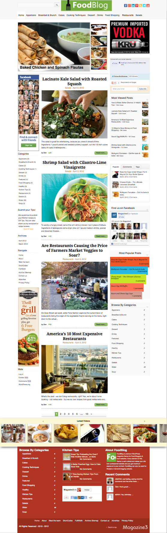 FoodBlog WordPress Food Magazine Theme