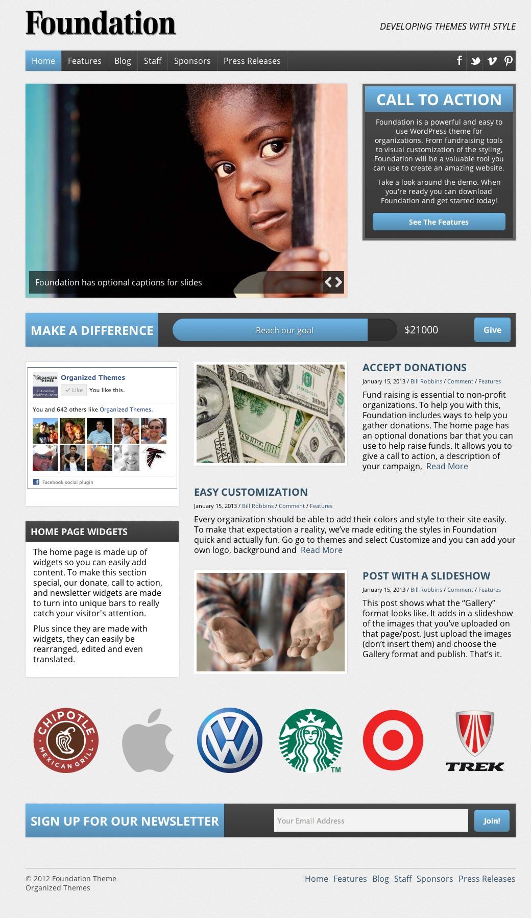 Foundation V3 Responsive WordPress Theme