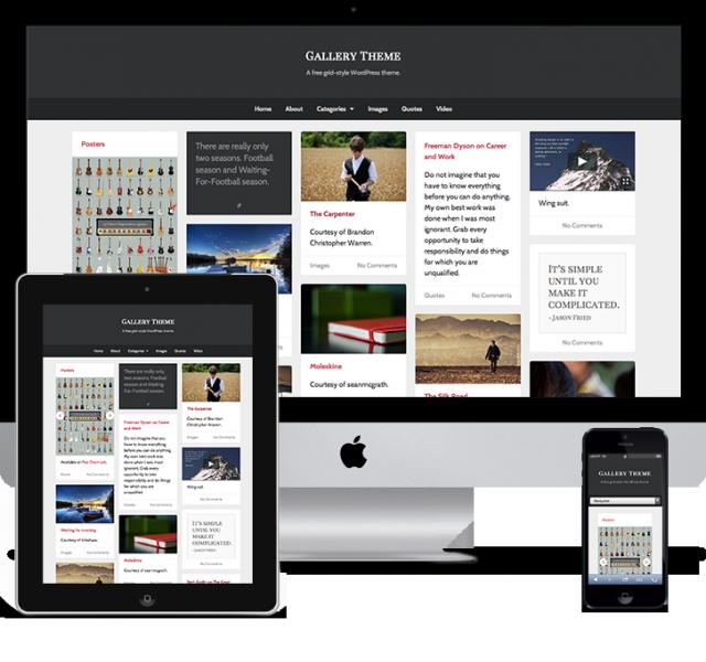 Gallery Free Grid Style Responsive WordPress Theme