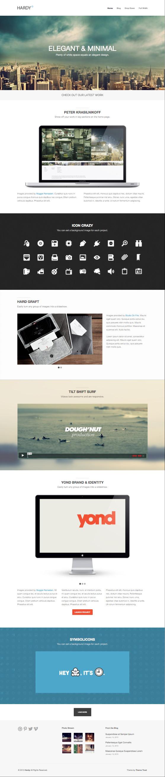 Hardy WordPress Ajax Portfolio Theme