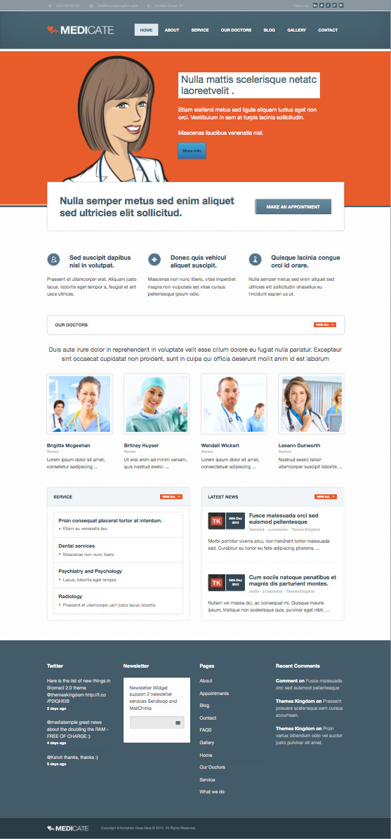 Medicate WordPress Hospital Theme