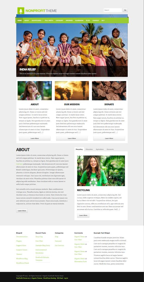 NonProfit V4 Responsive WordPress Theme