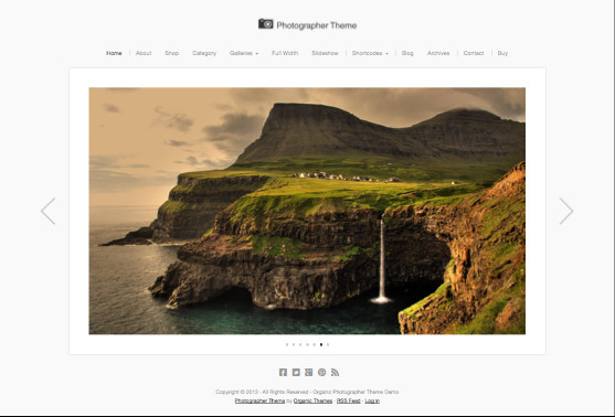 Photographer V2 WordPress Retina Theme