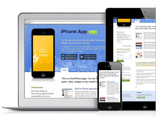 Responsive iPhone App Sell WordPress Theme