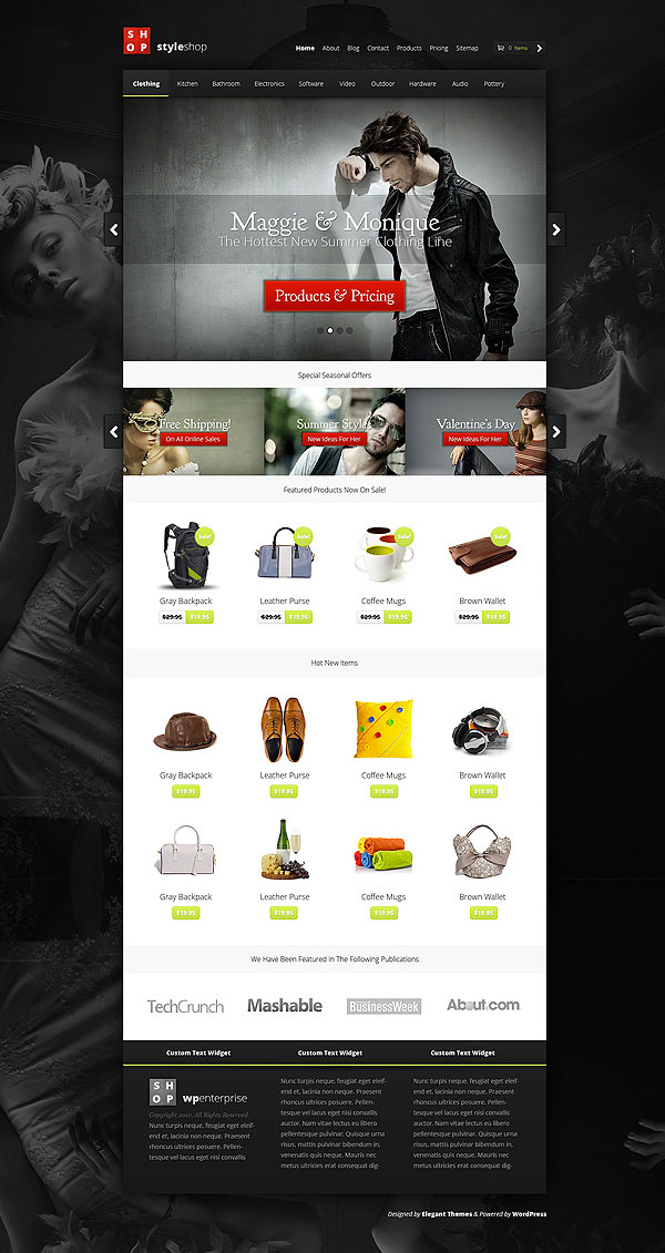 StyleShop WordPress eCommerce Theme