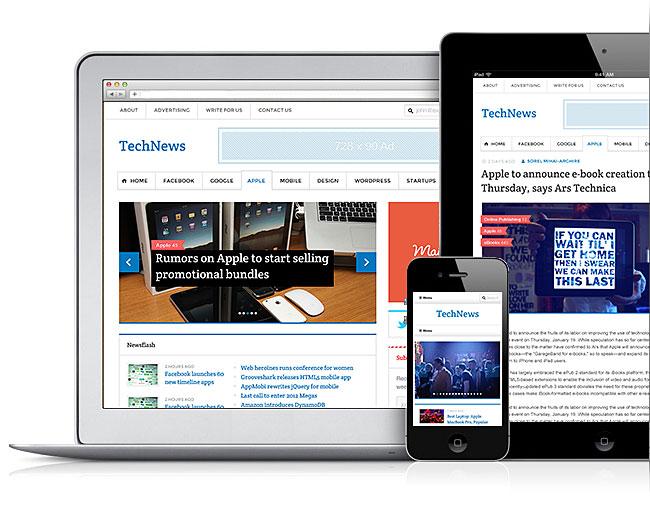 TechNews V2 Responsive WordPress Theme