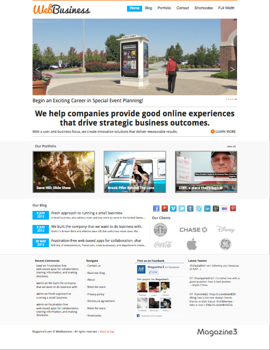 WebBusiness Portfolio WordPress Theme