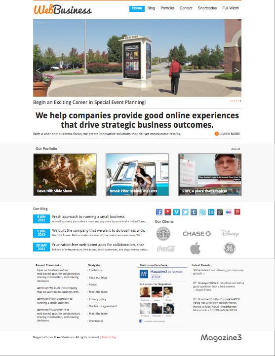 WebBusiness Portfolio WordPress Theme