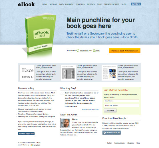 eBook V2 WordPress Sell Book Theme