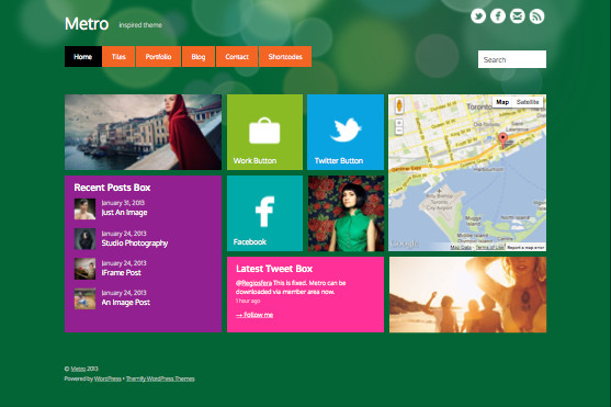 Metro Responsive WordPress Windows 8 Theme