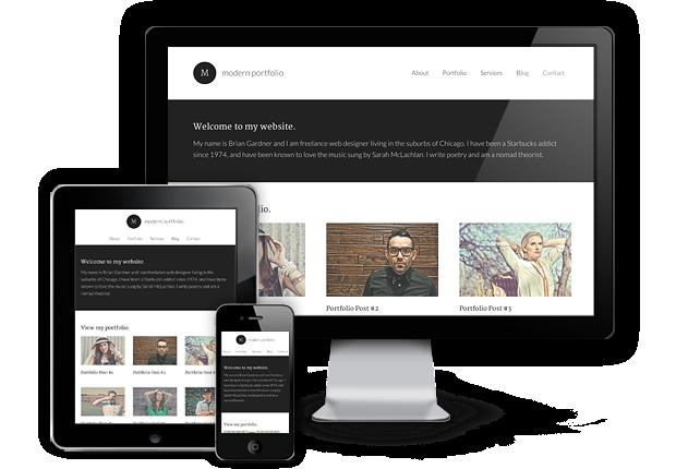 Modern Portfolio Responsive WordPress Photographers Theme