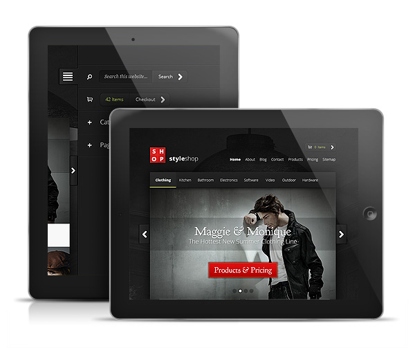 StyleShop WordPress iPad & Android Tablet Theme