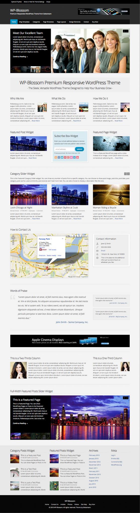 WP Blossom Responsive Business Magazine Theme