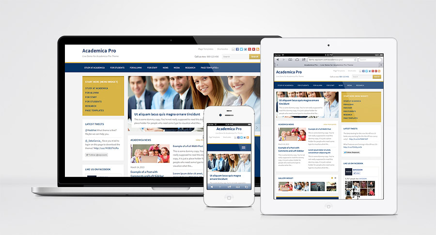 Academica Pro WordPress Edification Theme for NGO & University