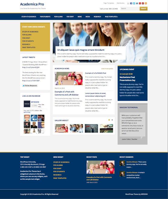 Academica Pro WordPress Universities Theme