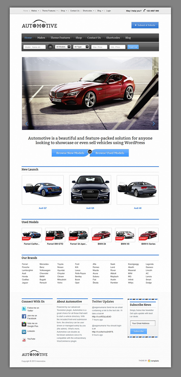 Automotive WordPress Car Portal Theme