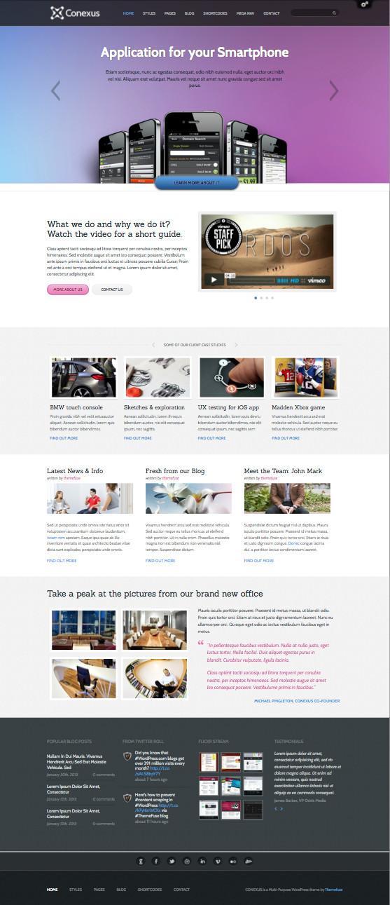 Conexus Responsive WordPress Company Theme