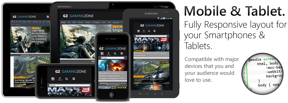 GamingZone Responsive WordPress Game Theme