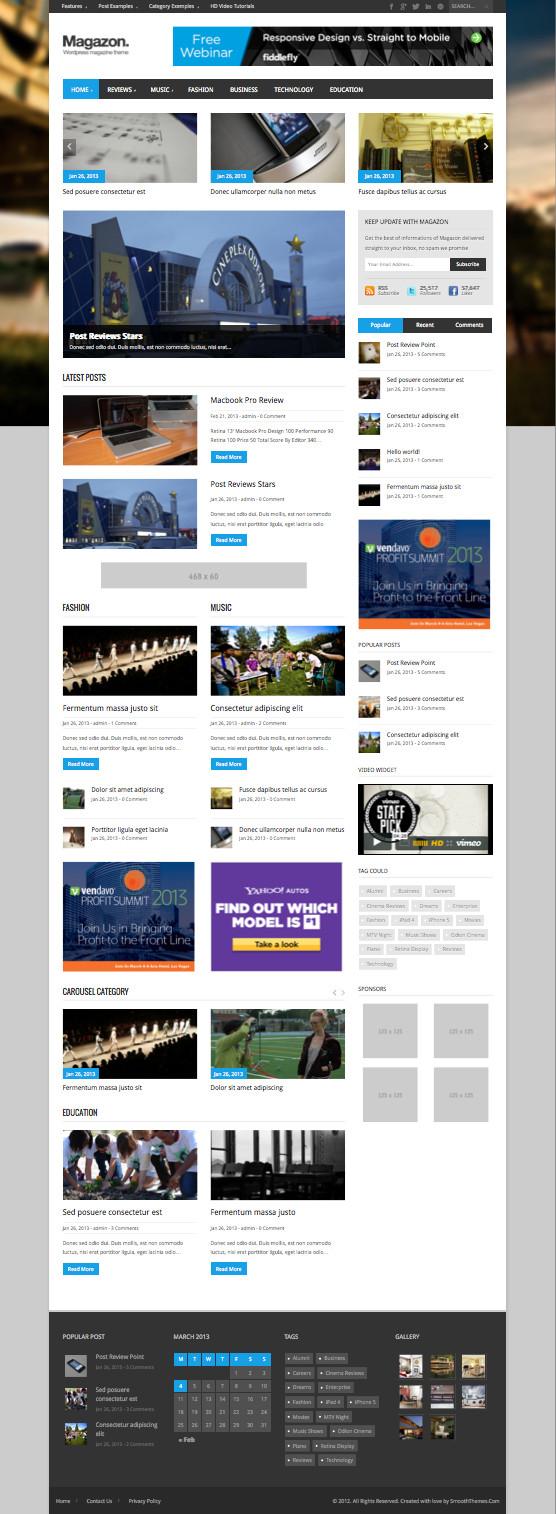 Magazon Responsive WordPress Theme