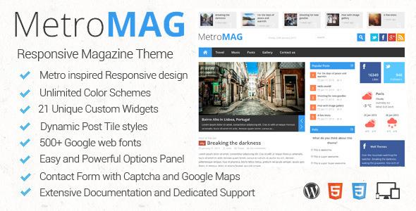 Metro Mag WordPress Responsive HTML5 & CSS3 Theme