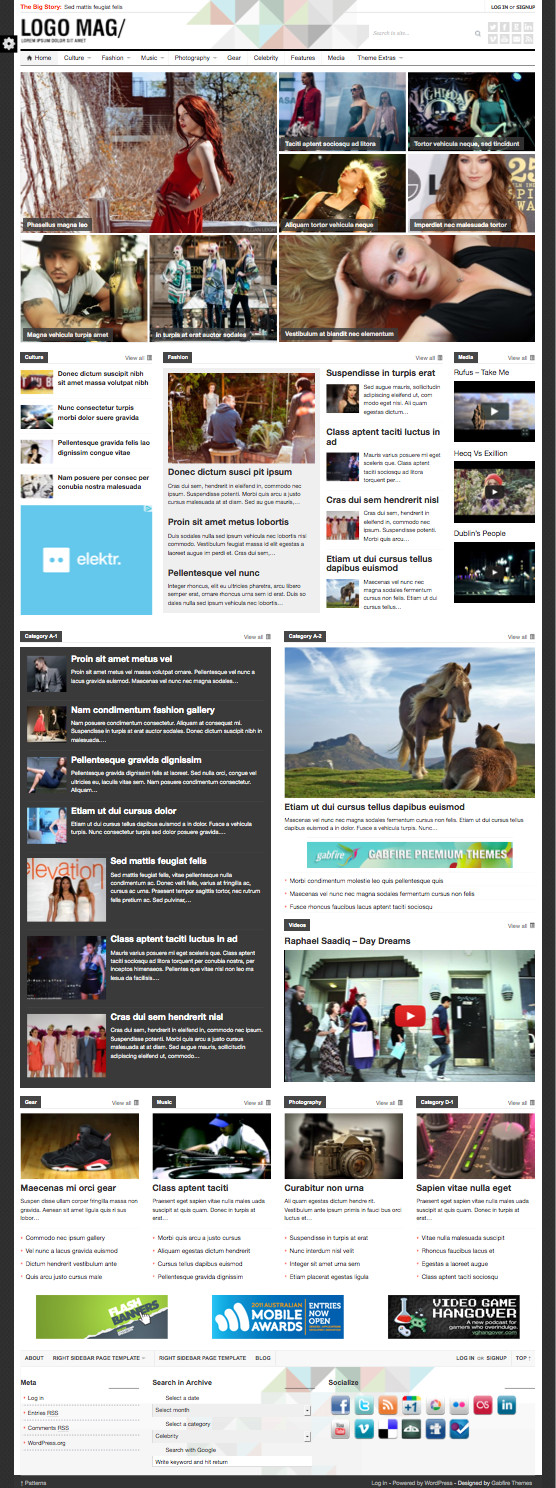 Patterns WordPress Newspaper Theme