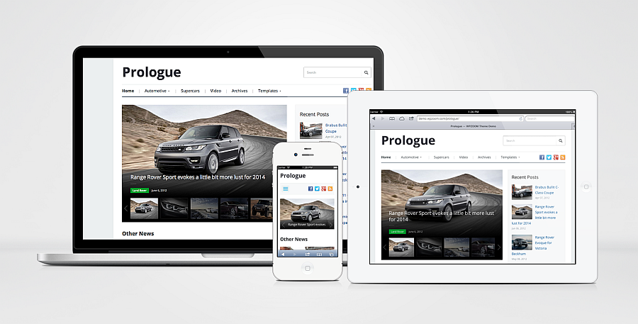 Prologue Responsive Magazine Theme for WordPress