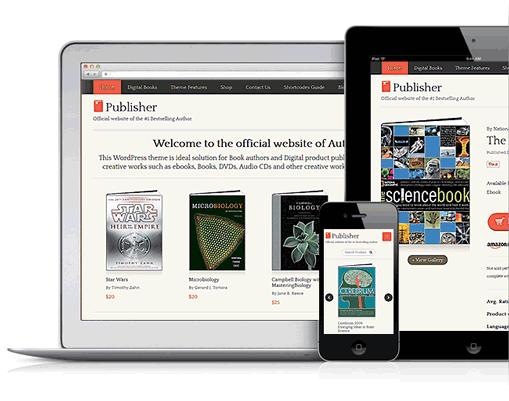 Publisher v2 Responsive WordPress Goods Selling Theme