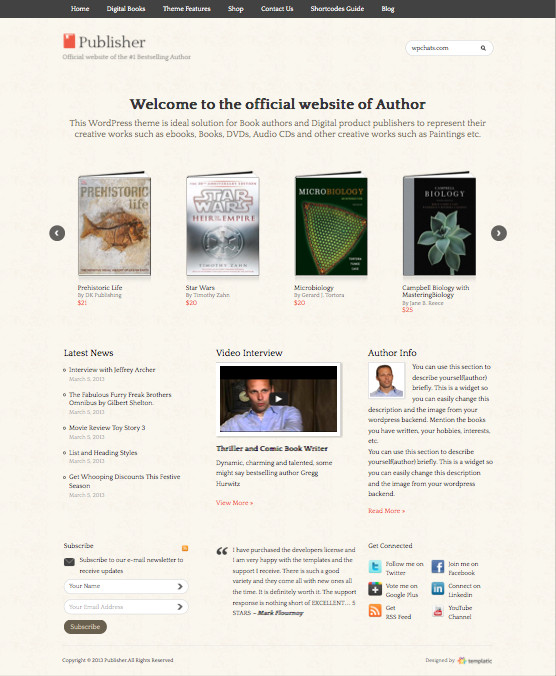 Publisher v2 WordPress Digital Products Theme