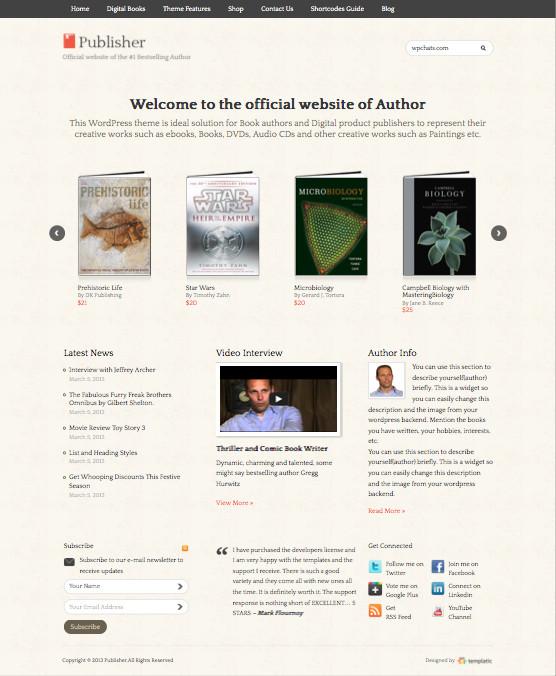 Publisher v2 WordPress Digital Products Theme
