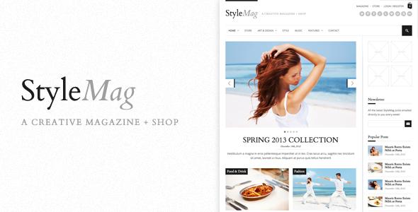 StyleMag WordPress Magazine Shop Theme