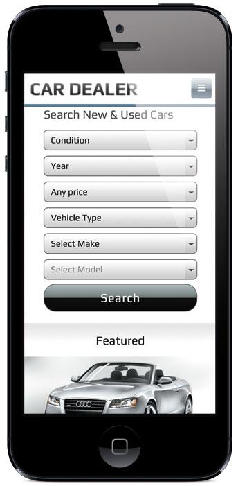 Car Dealer v2 WordPress Mobile Search Theme