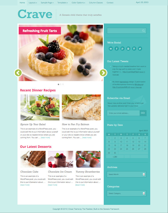 Crave WordPress Cookery Magazine Theme