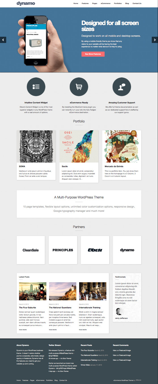 Dynamo WordPress Corporate Theme & Drag-n-Drop Homepage Layouts