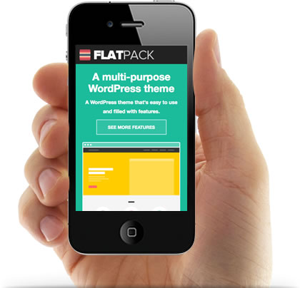Flatpack Responsive WordPress Theme