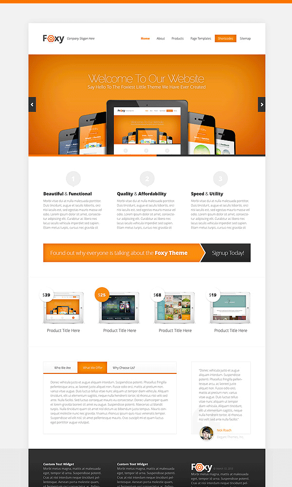 Foxy WordPress Business Theme