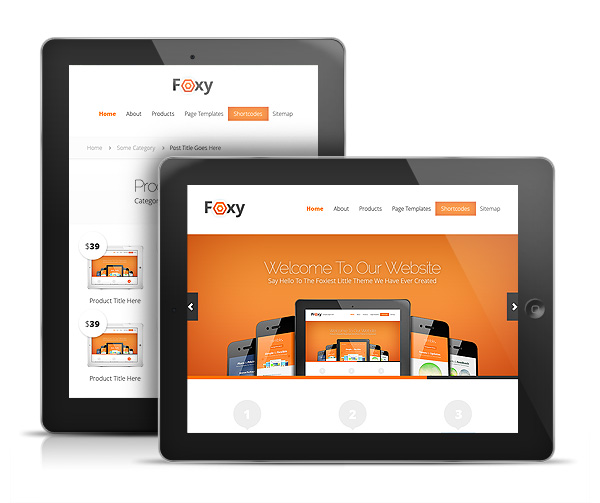 Foxy WordPress iPad Theme