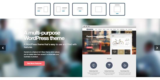 Gorgeous Feature Rich Slider of Dynamo Theme