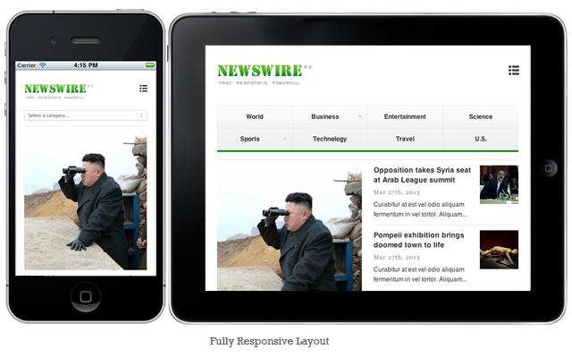 Newswire v2.0 WordPress Responsive Magazine Theme