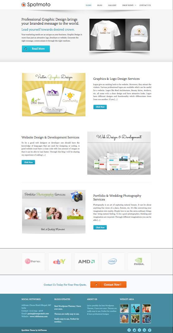 SpotMoto Responsive WordPress Services Theme