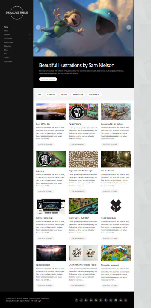 WordPress Showcase Illustrators Theme v3