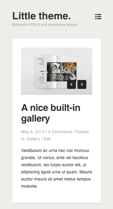 Little Responsive WordPress Blog Theme