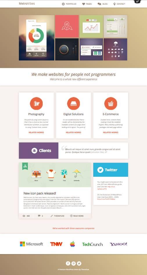 Metro Vibes WordPress Creative Agency Theme