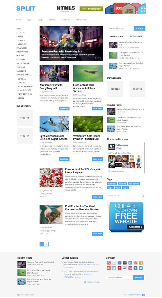 Split WordPress Advertising Revenue Theme