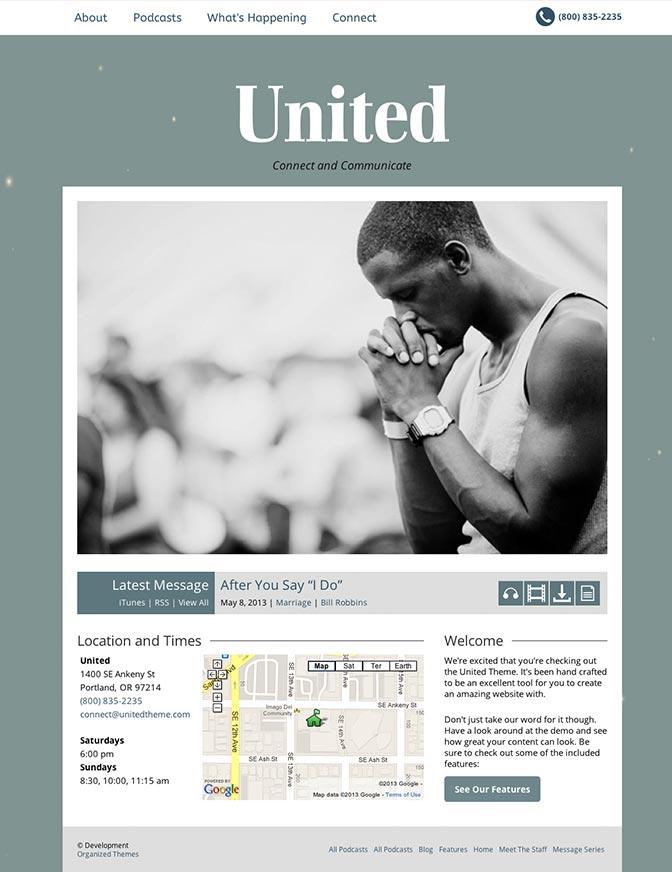 United WordPress Churches Theme